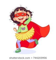 Cartera de fotos e imágenes de stock de PinkPeng | Shutterstock Family Illustration, Dibujos Cute, Super Hero Costumes, Children Images, Portfolio, Happy Kids, Supergirl, Character Design, Royalty Free Stock Photos