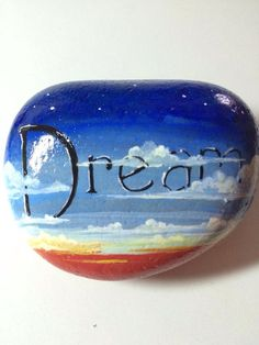Handpainted River rock Dreamer by PaintRiver on Etsy