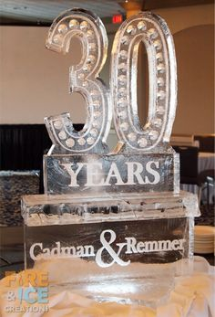 30th business anniversary ice sculpture