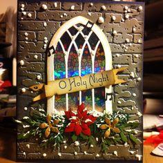 ♥ ❅ ❄ ❆ Handmade Christmas Card - O Holy Night Church Window ❆ ❄ ❅ ♥