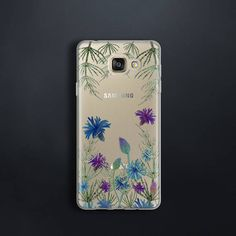 4041de2f5cb9ac Case for Samsung Galaxy A3 2017 Case floral for A5 2017 Case clear for A7  2017 Case meadow flowers for A3 A5 A7 2016