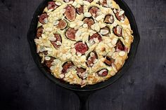 Fresh fig and almond breakfast cake. I am aghast. Surely this Must be something served in God's own heaven, or perhaps a small cafe with a view of the Mediterranean. And the recipe is on the internet. Fresh figs... must find...