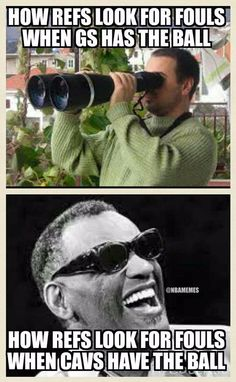 Refs Edition: Cavs vs. Funny Nba Memes, Funny Basketball Memes, Nfl Memes, Basketball Quotes, Basketball Pictures, Stupid Funny Memes, Funny Quotes, Baseball Memes, Golf Quotes