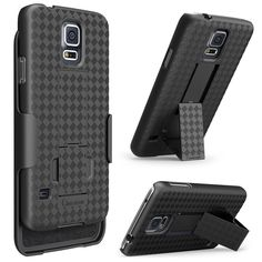 Amazon.com: Galaxy S5 Case, i-Blason Transformer Slim Hard Shell Case Holster Combo with Kickstand and Locking Belt Swivel Clip for Samsung Galaxy S5 [Fits AT&T, Sprint, Verizon, T-Mobile] (Black): Cell Phones & Accessories