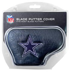 8f9f39243ad NFL Dallas Cowboys Golf Blade Putter Cover Made with Buffalo Vinyl and  Polyester Knit 2 location embroidery includes both logo and wordmark Fits  most blade ...