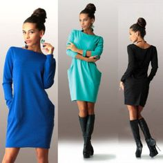 NEW-Sexy-Women-LONG-sleeve-Slim-Bodycon-Party-Cocktail-Evening-MINI-Dress-casual