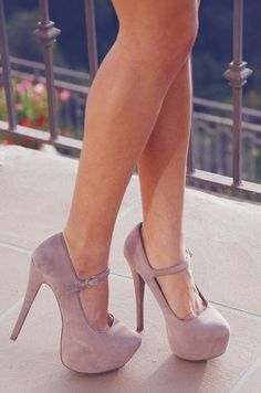 Nude Mary Jane Pumps <3
