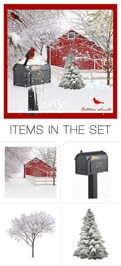 """""""Cardinals in the Snow"""" by kathleensmith-i ❤ liked on Polyvore featuring art"""