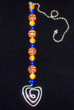 SALE Beaded Orange and Blue Basketball by nycfashionconnection, $25.00