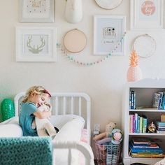 """How perfect is this room @_ashley_noel_ """"Talking about Karis' new favorite thing, her @dockatot 🙌🏻, over on the blog!  The DockATot Grand might just be Karis' favorite thing! I hear several times a day """"I'm in my DockATot!"""" when asking Karis what she is doing.  Such a perfect product for lounging, relaxing and sleeping!"""" #toddlerlife #roominspo"""