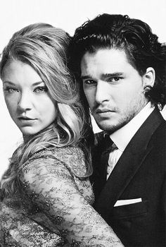 """ Natalie Dormer and Kit Harington for RadioTimes """
