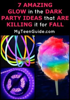 Wow! These 7 amazing glow in the dark party ideas are killing it for fall!