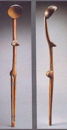 Spoon from the Zulu People of South Africa / Louvre Museum Arte Tribal, Tribal Art, Statues, African Pottery, Afrique Art, Carved Spoons, African Sculptures, Art Premier, Wood Spoon