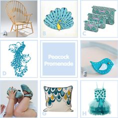 Oh dear P, Mummy found more peacock themed baby items!