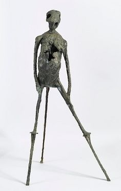 "Germaine Richier Shepherd of the Land, 1951 dark patinated bronze, 58 5/8 x 35 x 23 5/8""."