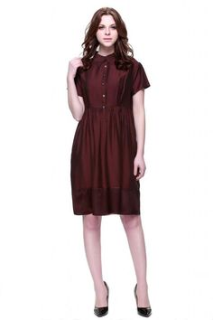 Zuri Zuri By Flora Women's Short Sleeve Fit and Flare Dress Large Red