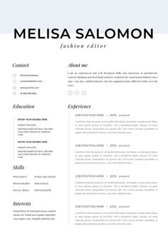 202 best Creative and professional Resume Templates images on ...