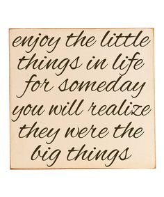 Take a look at this Cream & Brown 'Little Things' Wall Art by Vinyl Crafts on #zulily today!