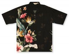 Hilo Hattie Black Men's Shirt http://www.alohashirtshop.com/products/2426/paradise-bay-by-hilo-hattie-hibiscus-paradise-mens-shirt.php