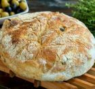 Ελιόψωμο (Video) Olive Bread, How To Make Bread, Greek Recipes, Fresh Herbs, Crepes, Camembert Cheese, Food Processor Recipes, Ice Cream, Sweets