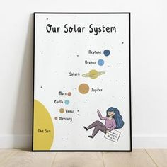 Solar System Print Nursery Print Educational Decor | Etsy Science Gifts, Our Solar System, Nursery Prints, Your Cards, Thank You Cards, Etsy Store, Are You Happy, Daisy, Education