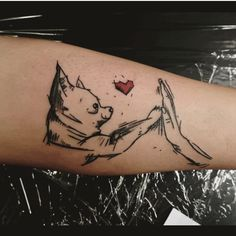 15 Trendy Tattoo Ideas Chihuahua Owners Will Love One Word Tattoos, Line Tattoos, Dog Tattoos, Trendy Tattoos, Animal Tattoos, Small Tattoos, Ankle Tattoos, Arrow Tattoos, Temporary Tattoos