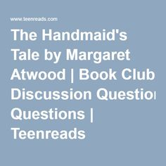 The Handmaid's Tale by Margaret Atwood Book Club Books, Books To Read, My Books, A Handmaids Tale, Ap English, Margaret Atwood, Book Lovers, June, Entertaining