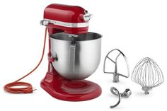 Kitchen Aid KSM8990ER Commercial 8qt Bowl Lift Stand Mixer Empire Red