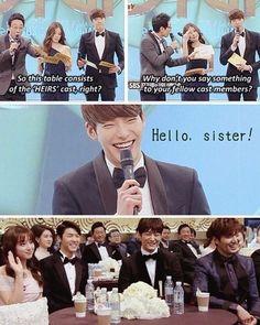 It's so funny because in the drama she hated that😂 I love Woo Bin Heirs Korean Drama, Korean Drama Funny, Korean Drama Quotes, The Heirs, Korean Dramas, K Drama, Drama Fever, Lee Min Ho Kdrama, Korean Shows