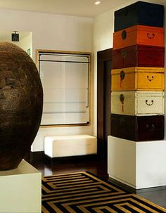 """<3 love <3 the leather trunks  ~   from theBerry  ~  January 19, 2012  """"My Dream House: Assembly Required"""""""