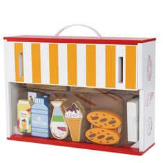 Wooden Toy Shop With Play Food Accessories by Bee Smart, the perfect gift for Explore more unique gifts in our curated marketplace. Wooden Toy Shop, Wooden Toys, Chocolate Spread, Diy Art Projects, Rainbow Sprinkles, Strawberry Jam, Play Food, Toys Shop, Bread Rolls