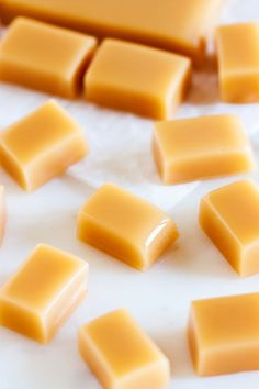 Soft, chewy, and melt in your mouth Amish caramel is the perfect candy to set out for guests or gift giving.
