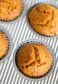 Give 'em pumpkin to talk about! Pumpkin, pumpkin, pumpkin I love pumpkin. which is why I LOVE these perfect Fall pumpkin muffins. They're moist, soft, light and filled with warm Fall spices. Best Pumpkin Muffins, Pumpkin Muffin Recipes, Muffin Tin Recipes, Cupcakes, Cupcake Cakes, Pumpkin Dessert, Pumpkin Pumpkin, Chocolate Chip Muffins, Chocolate Chips