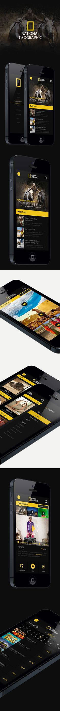 National Geographic iphone App. on Behance