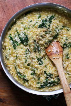 How to Make Risotto + Baby Kale and Creme Fraiche Risotto Recipe