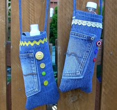Crafty Home Cottage: Search results for denim water bottle bags