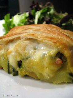 Zucchini pastry with curry, ham & Lolo mozzarella and its Tambouille - cuisine - Meat Recipes Pizza Recipes, Meat Recipes, Mexican Food Recipes, Crockpot Recipes, Cooking Recipes, Healthy Recipes, Ethnic Recipes, Cooking Corn, Cooking Fish