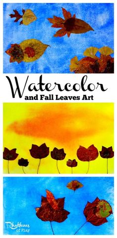 Watercolor and fall leaves art is a fun and easy nature art activity for both kids and adults. A wonderful way to connect with nature. Autumn Crafts, Autumn Art, Nature Crafts, Autumn Activities For Kids, Art Activities, Fall Art Projects, Projects For Kids, Crafts To Do, Kids Crafts