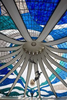 Cathedral's ceiling, Brasília, Brazil