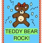 """""""THE TEDDY BEAR ROCK!"""" - ACTIVE MORNING FUN!  Kids sleepy and unfocused?  Get ready to rock with a GROUP GAME that uses both brain hemispheres!    Teddy Bear  craft template and simple song notes included.  Strong rhyme and rhythm patterns and lots of humor found here!  Get everyone """"on the same page"""" and showing their best moves with an activity that you will use over and over.  """"Teddy Bear, Teddy Bear, stomp those feet!""""  More """"rocking and rolling"""" from Joyful Noises Express TpT!  (6 pages) $"""