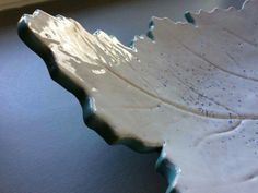Ceramics Leaves, plate