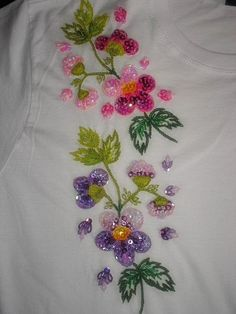 Hand embroidered 100  Cotton TShirts by KikaBordados on Etsy, $40.00