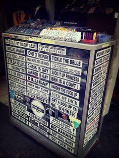 Dirty bumper stickers Kuta Bali Indonesia