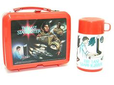 THE LAST STARFIGHTER Original 1984 ALADDIN Vintage LUNCHBOX & THERMOS Mint Shape
