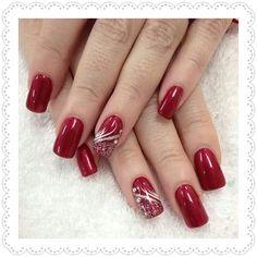 Nail Art by Helen - Nails - # nails Xmas Nails, Holiday Nails, Red Nails, Red Christmas Nails, Helen Nails, Cute Nails, Pretty Nails, Nagellack Design, Christmas Nail Art Designs