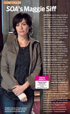 Maggie Siff/Tara ~ My girl... She takes care of her babies.