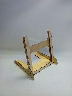 Wooden Laser Cut IPad 2 Stand #laser_cutting #desk #organization #holder