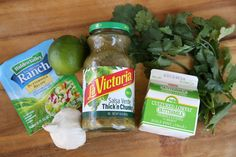 Copycat Cafe Rio Creamy Tomatillo dressing. This is the best version I've tried. I like to add about 1/4 tsp Chili Lime Cholula
