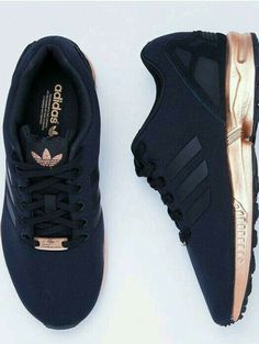 new concept 1772d 2c4d8 black sneakers adidas workout sportswear sports shoes adidas zx flux shoes  adidas shoes black and gold black rose gold love need black and gold adidas  ...