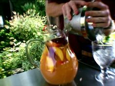 White Peach Sangria Recipe : Bobby Flay : Food Network - FoodNetwork.com